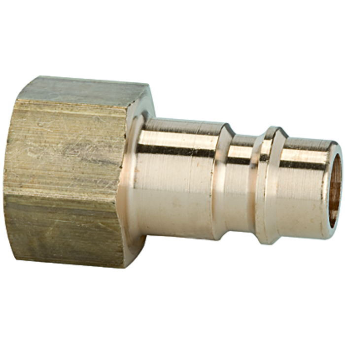 Stems and plugs for couplings DN 7.2 - DN 7.8, brass with a bare