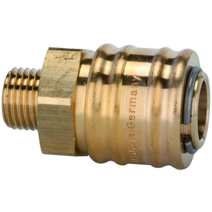One-hand, quick-lock couplings