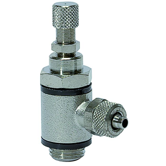 Flow control valves knurled screw