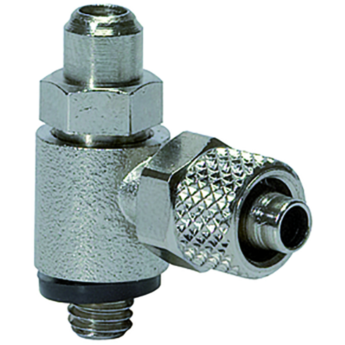 Flow control valves slotted screw